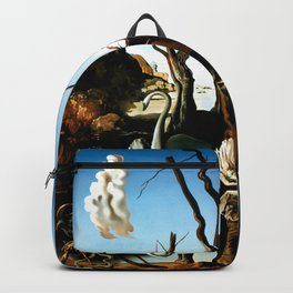 Salvador Dali Swans Reflecting Elephants 1937 Artwork for Wall Art, Prints, Posters, Tshirts, Men, Women, Kids Backpack