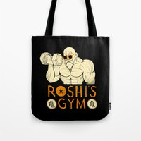 gym Tote Bags featuring roshi's gym by Louis Roskosch