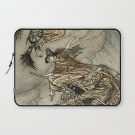 """Four Witches """"Up The Chimney"""" by Arthur Rackam Laptop Sleeve"""