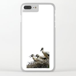 Storks and Fledglings Vector Clear iPhone Case