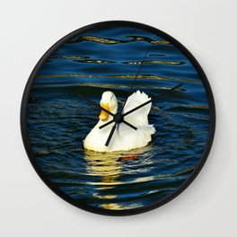 Watching the Ripples Wall Clock