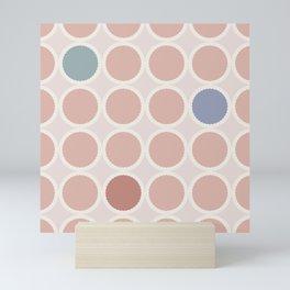 Scalloped Circles in Blush Mini Art Print