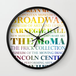 New York City - arts in color Wall Clock