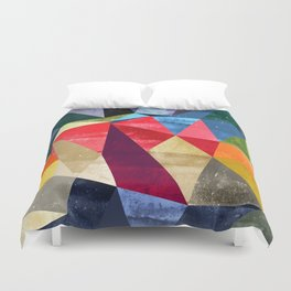 colorful pattern abstract shapes Duvet Cover