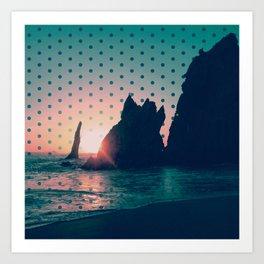 Sunrise Rock Art Print
