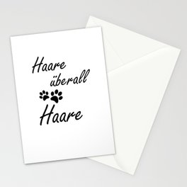 Hair Everywhere Funny Dog Gift Stationery Cards