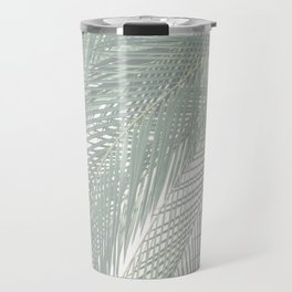 Faded Palm Leaves Travel Mug