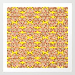 bubbles on bubbles on yellow Art Print