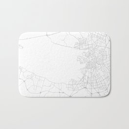 Saint Petersburg, Russia Minimalist Map Bath Mat