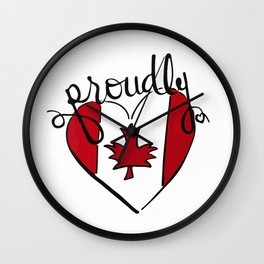 proudly Canadian Wall Clock