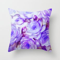 Shabby Chic Purple Throw Pillow