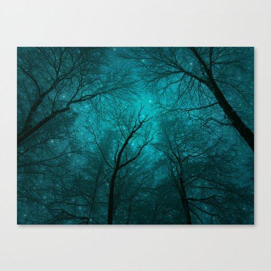 Simply Stare Upward (Dark Winter Sky) Canvas Print