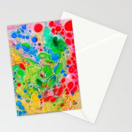 Marbling 4, Tie Dye Effect Abstract Pattern Stationery Cards