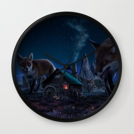 Red Demons Wall Clock