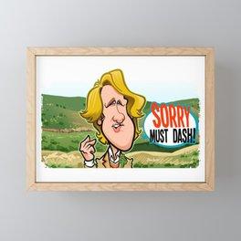 Sorry Must Dash Framed Mini Art Print