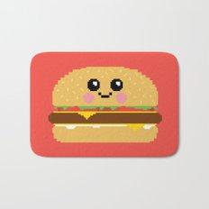 Happy Pixel Hamburger Bath Mat