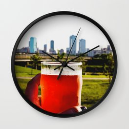 Good Beer In A Good City. Wall Clock