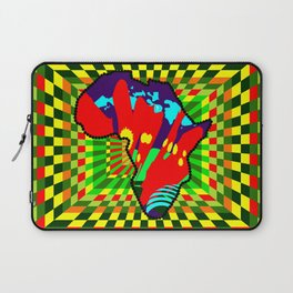 Colorful African Checkered Abstract Print Laptop Sleeve