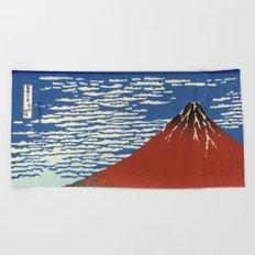 South Wind, Clear Sky (Gaifū kaisei or 凱風快晴) Beach Towel