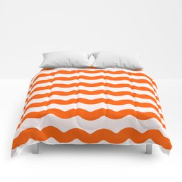 Winter 2019 Color: Unapologetic Orange on Pink Waves Comforters