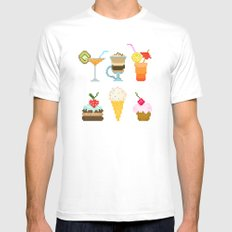 Dessert White Mens Fitted Tee MEDIUM