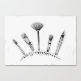 My weapons Canvas Print
