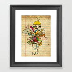 Notebook World Framed Art Print