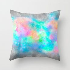 The Soul Becomes Dyed With the Colors of it's Thoughts (Galactic Watercolors) Throw Pillow