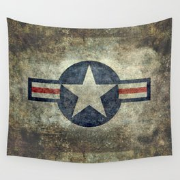 USAF vintage retro style roundel Wall Tapestry