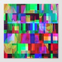 glitch Canvas Prints featuring GLITCH by C O R N E L L