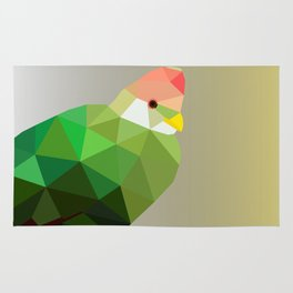 RED CRESTED TURACO LOW POLY ART Rug