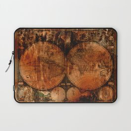 Rustic Old World Map Laptop Sleeve