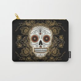 Vintage Sugar Skull Carry-All Pouch