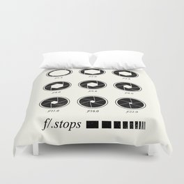 F stops chart vintage Duvet Cover