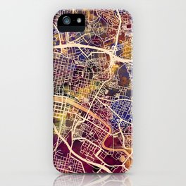 Glasgow City Scotland Street Map iPhone Case