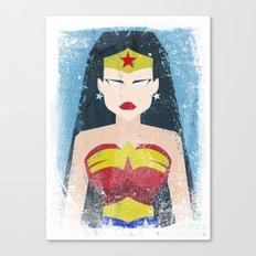 Wonder Grunge Woman Canvas Print