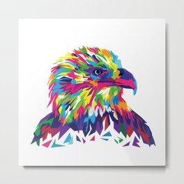 Eagle, watercolor Metal Print