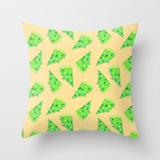 Zombies Like Pizza Too  Throw Pillow