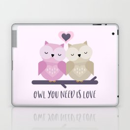 Owl is love Laptop & iPad Skin