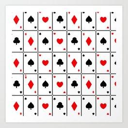 Ace Cards Art Print