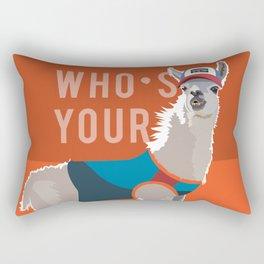 Who's Your Llama Rectangular Pillow