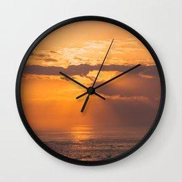 Golden ocean sunrise Wall Clock