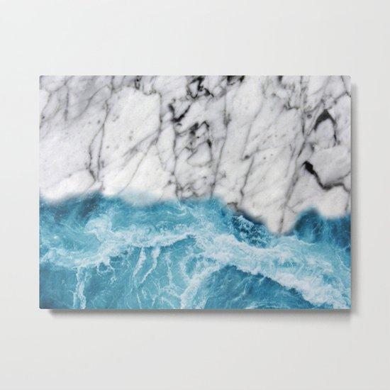 Marble sand Metal Print