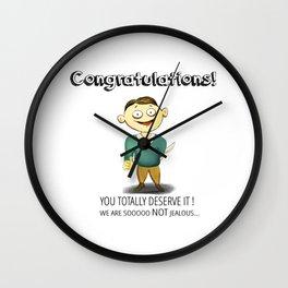Bitter Congrats Wall Clock