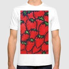 Strawberry jamboree MEDIUM White Mens Fitted Tee