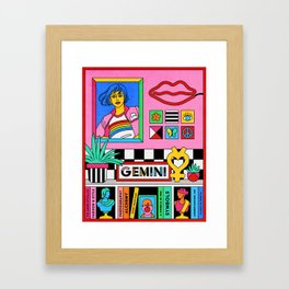 Gemini Pop Color Block Framed Art Print