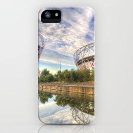 West Ham Olympic Stadium And The Arcelormittal Orbit  iPhone Case