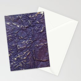 Antique shabby vintage purple creased paper Stationery Cards