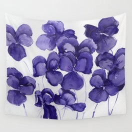 Pansy Party Wall Tapestry
