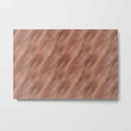 Abstract Motion Blur Blended Colors Inspired By Sherwin Williams Cavern Clay SW 7701 Metal Print